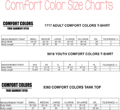 Comfort Colors Shirt Size Chart Gildan T Shirts Size Chart For Youth Nils Stucki