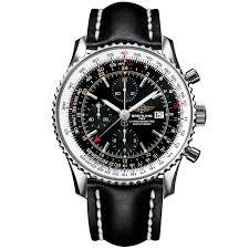 navitimer world 46mm black dial leather strap men s watch breitling navitimer world 46mm black dial leather strap men s watch
