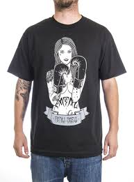 Fatal Clothing Designs 2018 Fashion Fatal Clothing Ring Girl Mens Black Short Sleeve Tattooed Pinup Girl T Shirt Casual Short Sleeve Shirt Tee T Shirts Cool Designs Awesome