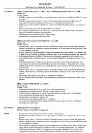 Operations Manager Resume Examples Restaurant Management Resume Sample Cancercells 75