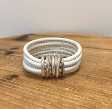 brighton neptunes rings leather bracelet white