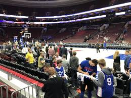 Sixers Game Seating Chart Wells Fargo Center Section 102 Philadelphia 76ers
