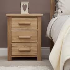 Opus Solid Oak 3 Drawer Bedside Chest