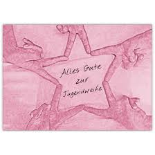 Trendige Freundes Grußkarte Mit Stern Zur Jugendweihe Für Mädchen Alles Gute Zur Jugendweihe