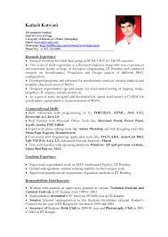 Resume Format Examples For Students Benjaminimages Com