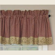 Primitive Country Kitchen Curtains Primitive Star Kitchen Curtains Ginkofinancial