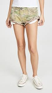 One Teaspoon Clothing Size Chart Safari Camo Bandits Denim Shorts