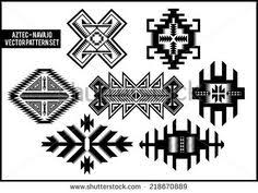 navajo designs patterns. Navajo - Aztec Vector Pattern Illustration Set Designs Patterns