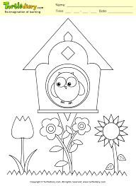 Small Picture Bird House Coloring Sheet Turtle Diary