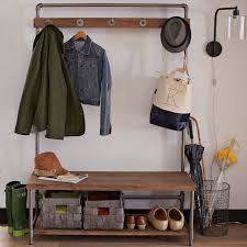 Modern Hall Tree Coat Rack Amazing Pipeline Coat Rack West Elm Modern Hall Tree Storage Bench 39