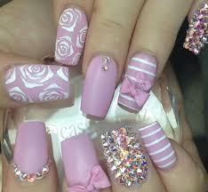 Girly acrylic nail art design ideas | Sooper Mag