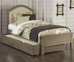 Driftwood Bedroom Furniture 10010 Twin Size Bailey Upholstered Bed With Trundle Highlands