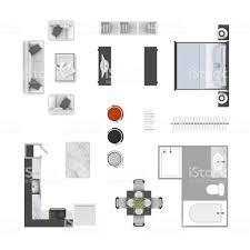 Draufsicht Symbole Möbelkollektion Wohnzimmersofa Sessel Und Ein
