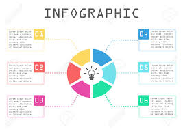 Business Infographic Circle Chart Step By Step Way To Success