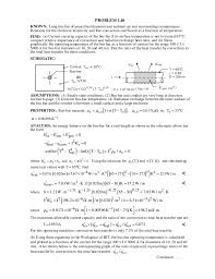 Heat Transfer 5th ed Solution Manual Incropera and Dewitt