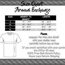 Armani Exchange Mens Black V Neck Cotton T Shirt