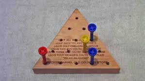 Wooden Peg Board Game Peg Board Game Solutions to amaze your friends 42