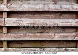 Horizontal Wooden Fence Background Stock Photo Royalty Free