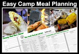 Camping Menu Template Easy Camp Food Meals Recipes And Camping Menu Planning Ideas