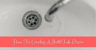 to unclog a bathtub drain with bleach