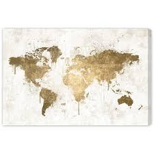 wonderful white gold mapamundi canvas wall art rosenberryrooms intended for gold wall art ordinary  on large white and gold wall art with wonderful white gold mapamundi canvas wall art rosenberryrooms