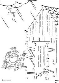 Small Picture Dot to dot Shrek coloring page motor skills Pinterest