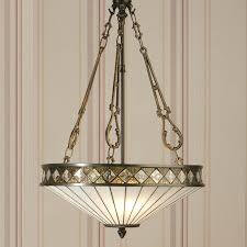 art deco style hanging light suspend on 3 chains