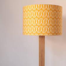geometric print handmade lampshade