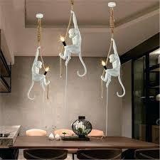 modern handmade resin monkey pendant style hemp rope light for home maitland smith floor lamp full