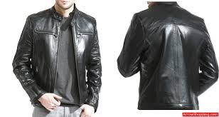 mens black lambskin leather cafe racer jacket nhba zoom helmet