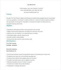 Resume Template For Mac Free Teacher Resume Template Resume Template ...