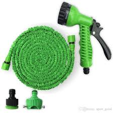 factory supply plastic materials blue green water spray nozzle sprayers expandable flexible water hose garden pipe set equipment