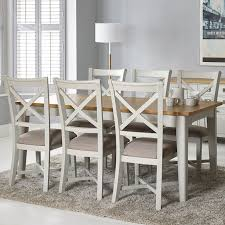 bordeaux painted ivory large extending dining table 6 chairs seats 6 8