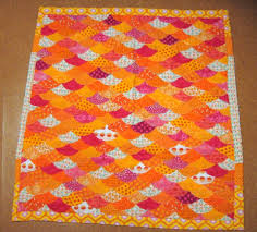 fuschia and orange quilt | Perry Moffitt & All that top stitching was a total pain. The half circles puckered like  crazy even with everything stabilized with heat-n-bond. Adamdwight.com