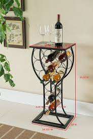 wine rack table. Modren Table Amazoncom Kings Brand Furniture Metal With Marble Finish Top Wine Storage  Organizer Display Rack Table Kitchen U0026 Dining To Table A