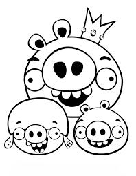 Angry Birds Kleurplaten Varkens Angry Birds Kleurplaten Beste