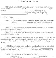Blank Rental Lease Renters Lease Agreement Real Estate Forms