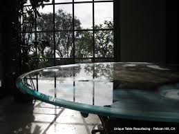 scratched glass table repairs