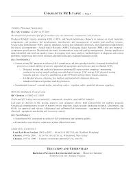 Example Resume Letter Simple Chemistry Resume Sample Chemist Cover Letter Analytical Example R