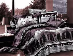 wolf bedding sets full bed sheets 3d animal print bedspreads doona quilt duvet cover linen queen size double bedsheet bedroom bedding sheet sets from