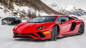 Ice driving the Lamborghini Aventador S