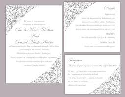 printable wedding invitation templates free diy wedding invitation template set editable word file instant ideas