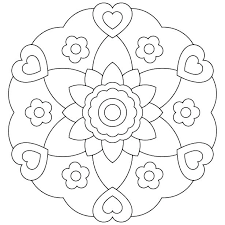 Easy Flower Mandala Coloring Pages Flower Coloring Pages For Girls