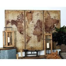 world map wall decor set of 3 rustic wood antique world map wall decor by studio world map wall decor