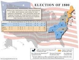 Electoral College Vote Chart United States Presidential Election Of 1800 Candidates