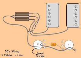 50 s wiring for 1 volume and 1 tone i believe that this is what you want be somebody a little more knowledge in electronics could chime in and confirm this
