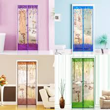 Magnetic Mesh Screen Door Mosquito Net Curtain Protect from Insects ...