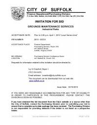 invitation for bid grounds maintenance services - City of Suffolk