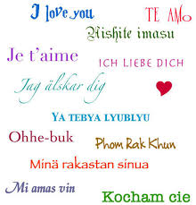 I love u in different languages with writing
