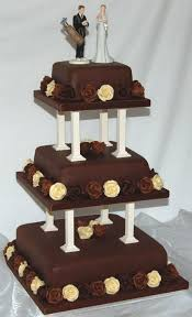 unique design three tier chocolate wedding cake chocolate decoration beautiful chocolate tiered wedding cake design